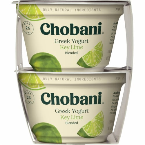Chobani Key Lime Blended Low-Fat Greek Yogurt 4 Count Perspective: left