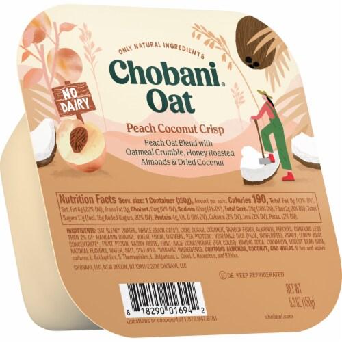 Chobani Peach Coconut Crisp Oat Blend Perspective: left