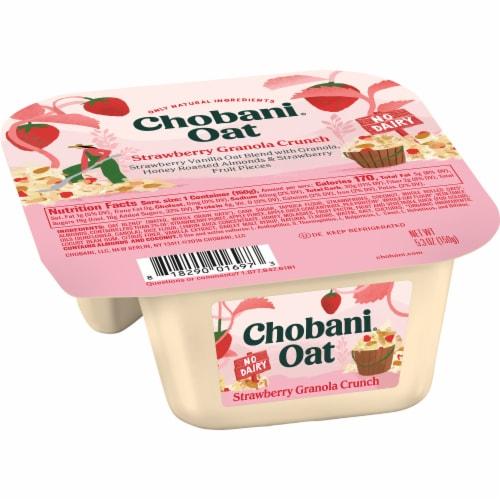 Chobani Strawberry Granola Crunch Oat Blend Perspective: left