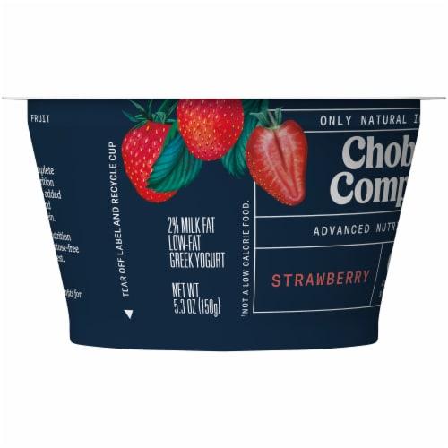 Chobani Complete Ultra Cup Strawberry Yogurt Perspective: left