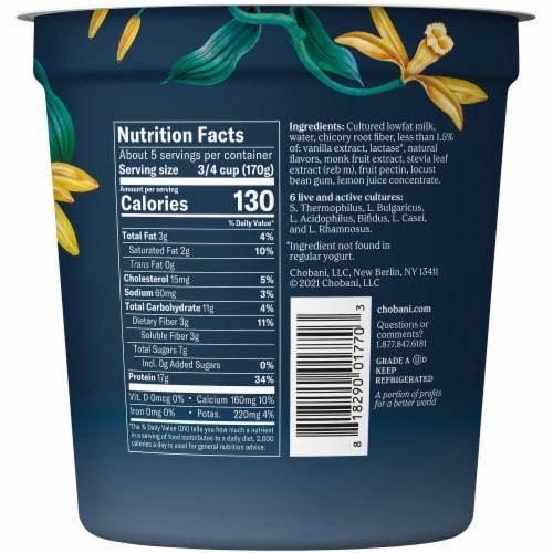 Chobani Complete Vanilla Advanced Nutrition Yogurt Perspective: left