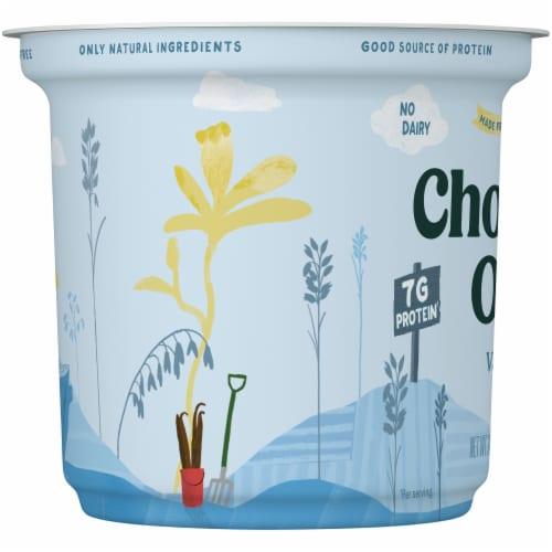 Chobani Oat Blend Vanilla Yogurt Perspective: left