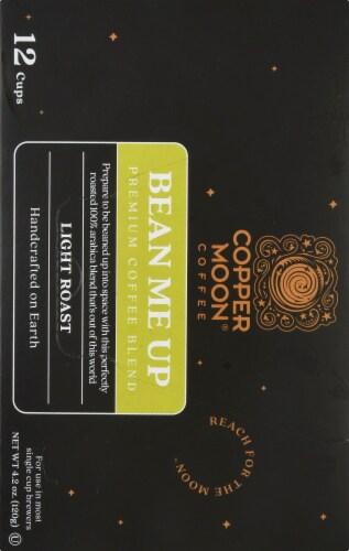 Copper Moon Bean Me Up Light Roast Single Serve Coffee Pods Perspective: left