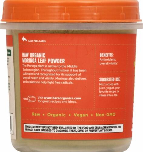 BareOrganics Moringa Leaf Powder Dietary Supplement Perspective: left