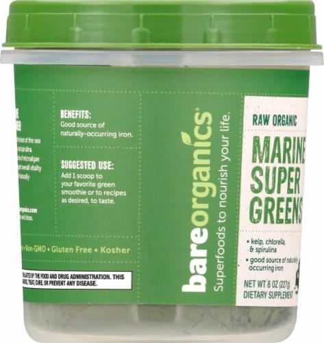 BareOrganics Marine Super Greens Raw Powder Perspective: left