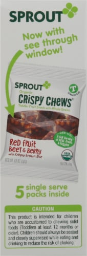 Sprout Red Fruit Beet & Berry with Crispy Brown Rice Organic Toddler Crispy Chews Perspective: left