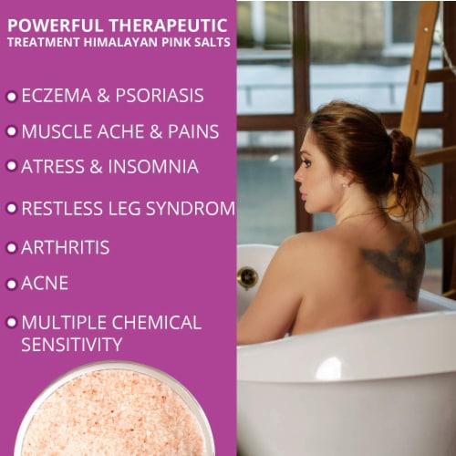 Salt Range Himalayan Bath Salt Bag, Detoxifies & Hydrates Skin, Best Salt for Therapy - 1 lb Perspective: left