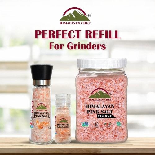 Himalayan Chef Pink Salt, 100% Natural, Coarse, Ideal for Salt Grinders & Salt Mills | 5 lbs. Perspective: left