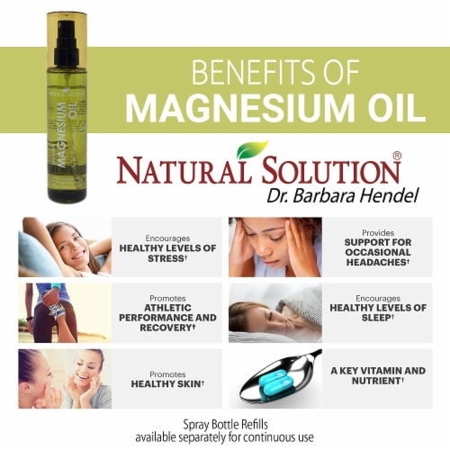 Natural Solution Zechstein Magnesium Oil Spray, No Unhealthy Trace Minerals | 4 Oz Perspective: left