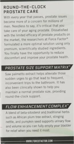 Force Factor Prostate Supplement Softgels Perspective: left