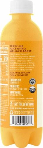 Suja Sparkling Pineapple Orange Cold-Pressed Juice Perspective: left