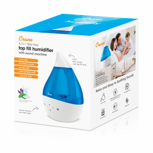 Crane Top Fill Drop Cool Mist Humidifier - Blue/White Perspective: left