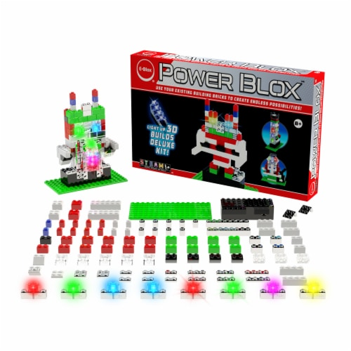 E-Blox Power Blox LED 3D Building Set Perspective: left