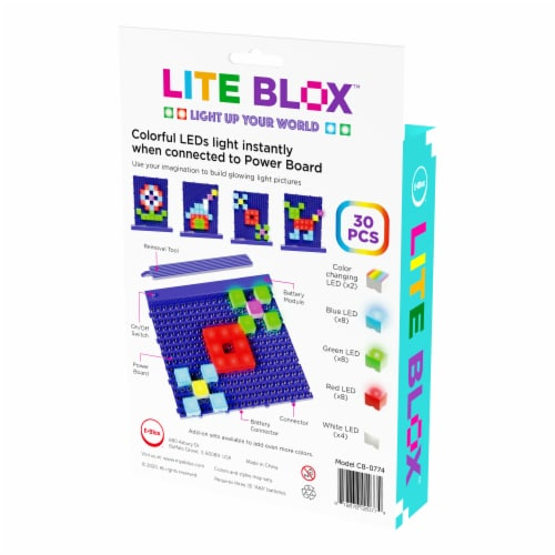 E-Blox Lite Blox LED Building Block Set Perspective: left