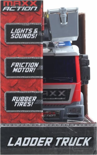Maxx Action Realistic Lights and Sounds Trucks - Fire and Rescue Series Perspective: left