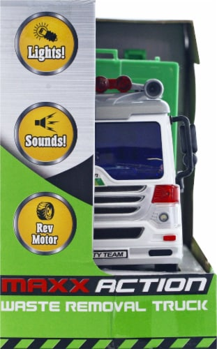 Maxx Action Realistic Lights and Sounds Truck - Recycling Series Perspective: left