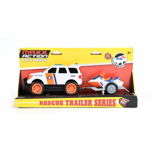 Maxx Action Mini Rescue Trailer Series Vehicles - Assorted Perspective: left