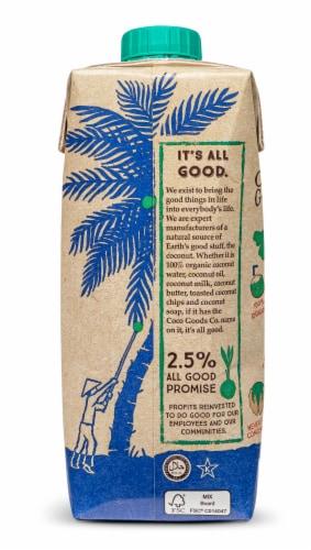 100% Organic Coconut Water 16.9 fl. oz Perspective: left