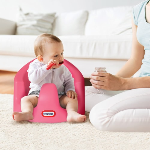 Little Tikes My First Seat Infant Toddler Foam Floor Support Baby Chair, Pink Perspective: left