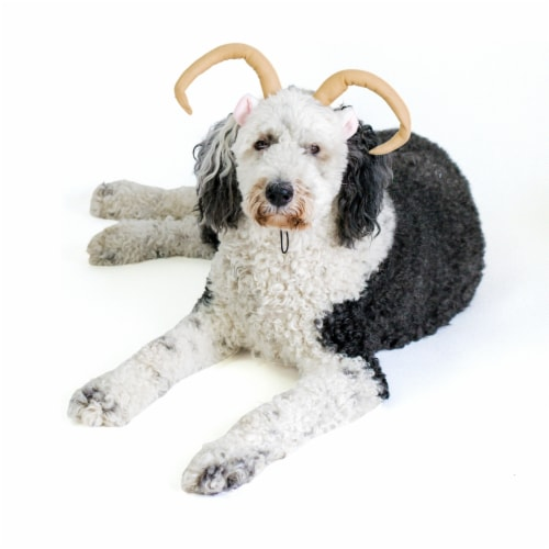 Midlee Dog Sheep Halloween Headband Costume with Tail- Large Perspective: left