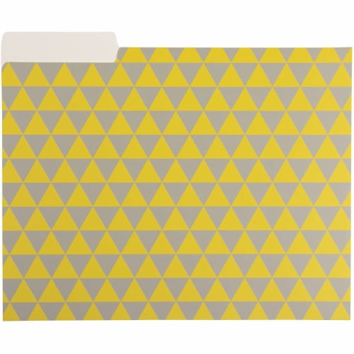 File Folders with Geometric Design, Letter Size (9.5 x 11.5 Inches, 12 Pack) Perspective: left