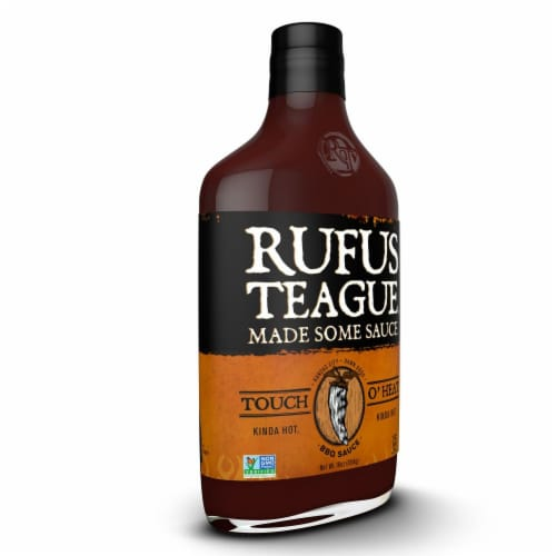 Rufus Teague Touch O' Heat BBQ Sauce Perspective: left