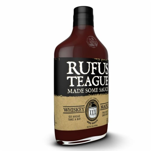 Rufus Teague Whiskey Maple BBQ Sauce Perspective: left