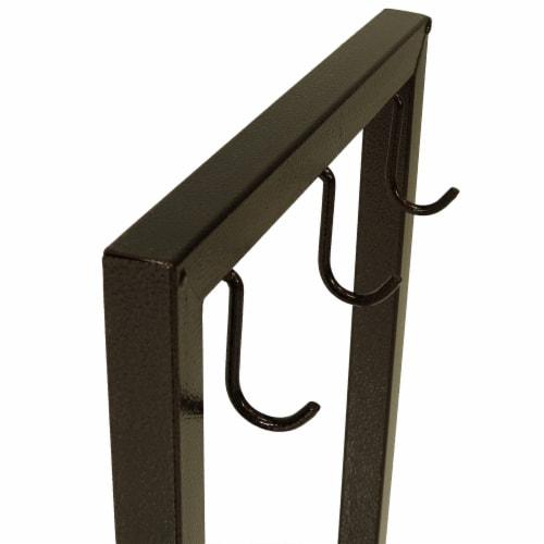"""Sunnydaze Log Rack 30"""" Steel with Bronze Finish Indoor-Outdoor Firewood Storage Perspective: left"""
