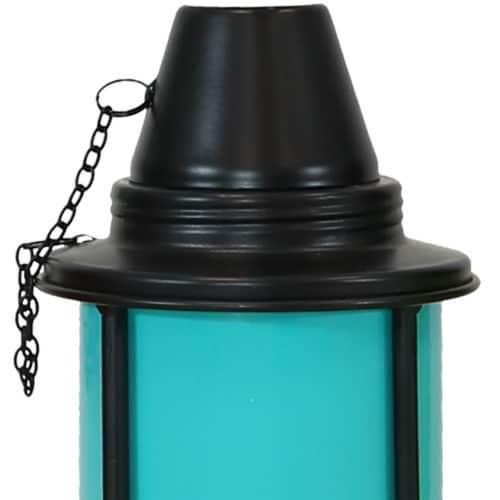 Sunnydaze Multi-Color Outdoor Backyard Patio Tabletop Metal Torches - Set of 4 Perspective: left