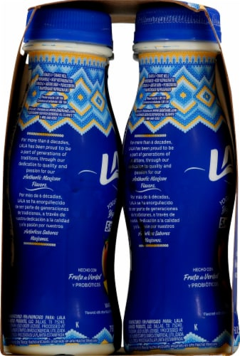 LaLa Mango Flavored Probiotic Yogurt Smoothie Drinks 4 Count Perspective: left