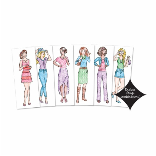 Fashion Plates Classic Styles Mix & Match Fashion Drawing Set Perspective: left