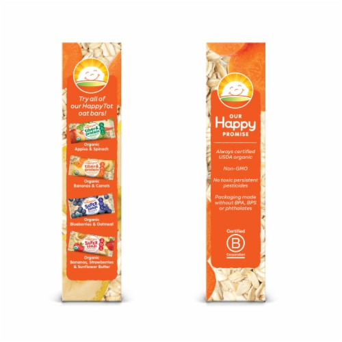 Happy Tot Fiber & Protein Soft-Baked Banana & Carrot Bars 5 Count Perspective: left