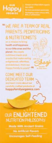 Happy Baby Organics Crawling Baby Mango & Pumpkin Teether Crackers Perspective: left