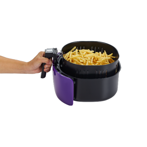 GoWISE USA 5.8-QT 8-in-1 Digital Air Fryer, Plum Perspective: left