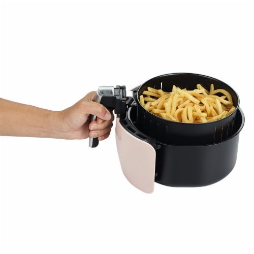 GoWISE USA 2.75-Quart Digital 50 Recipes for your Air Fryer Book, QT, Blush Perspective: left