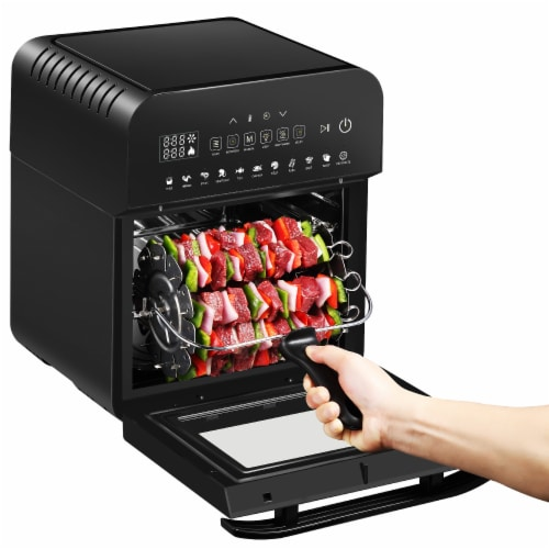 GoWISE USA Ultra 12.7-Quart Electric Air Fryer Oven, Black Perspective: left
