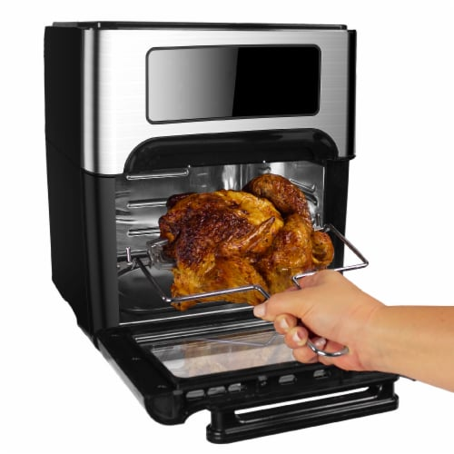 GoWISE USA 12.7 QT Air Fryer Oven Select, Black/Silver Perspective: left