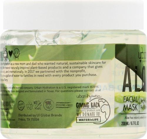 Urban Hydration Bright & Balance Aloe Gel Facial Mask Perspective: left