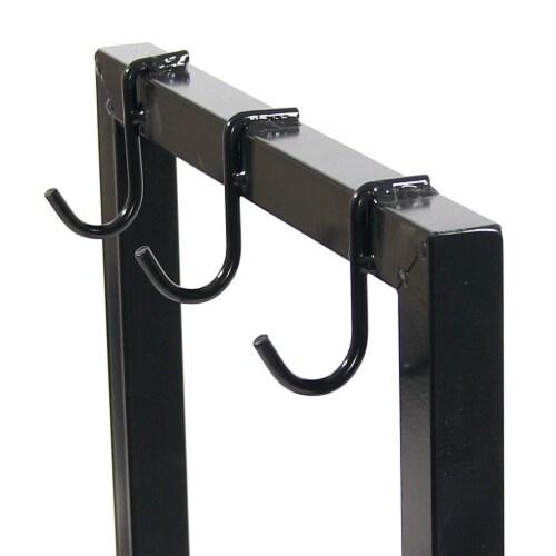 """Sunnydaze Firewood Steel Log Rack Storage Holder with Black PVC Cover - 30"""" Perspective: left"""