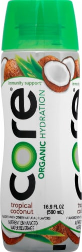 Core Organic Hydration Tropical Coconut Nutrient Enhanced Water Beverage Perspective: left