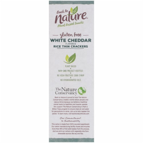 Back to Nature Gluten-Free White Cheddar Rice Thin Crackers Perspective: left