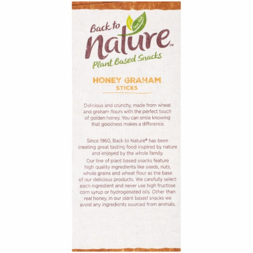 Back to Nature Honey Graham Sticks Pouches Perspective: left