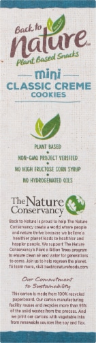 Back to Nature™ Plant Based Mini Classic Creme Cookies Perspective: left