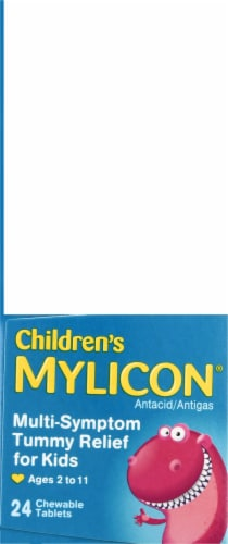 Mylicon Children's Tummy Relief Chewable Tablets Perspective: left