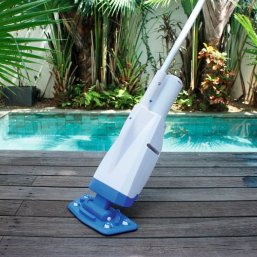 Bestway 58422E-BW Aqua Powercell Handheld Pool Vacuum with Rechargeable Battery Perspective: left