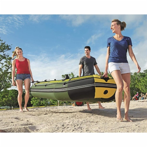 """Bestway Hydro Force Marine Pro 115"""" Inflatable 2 Person Boat Raft w/ Oars & Pump Perspective: left"""