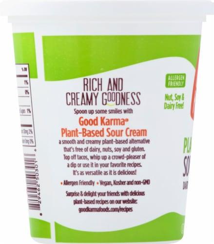 Good Karma Plant-Based Sour Cream Perspective: left