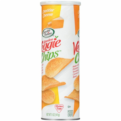 Sensible Portions Garden Veggie Cheddar Cheese Chips Perspective: left
