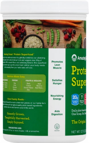 Amazing Grass Protein Superfood Nutrition Shake Powder Perspective: left