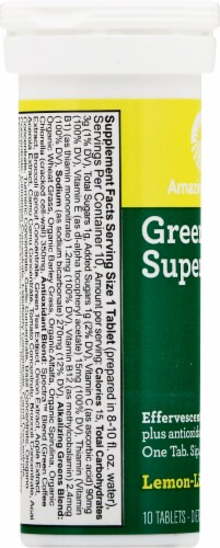Amazing Grass Green Superfood Lemon Lime Effervescent Greens Tablets Perspective: left